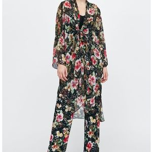 Zara Floral Kimono and Pant Set
